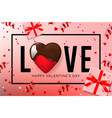 Web banner for valentines day top view on