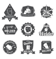 Welder labels set vector image