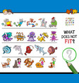 wrong picture in a row educational game vector image vector image