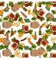 German festival seamless pattern Bavarian vector image