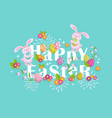happy easter greeting card banner cartoon design vector image