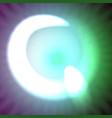 single light blue neon letter q of vector image