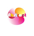 a graphic abstract element vector image