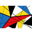 abstract triangles geometric colorful pattern vector image vector image