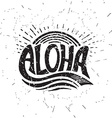 Aloha surfing lettering calligraphy vector image