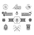 Bee honey label black vector image vector image
