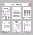 birthday party doodle pintable cards vector image