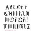 Blackletter modern gothic font vector image vector image