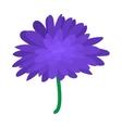 Blue dahlia icon cartoon style vector image