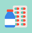 bottle syrup and capsule medical and hospital vector image vector image