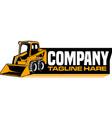 bulldozer logo vector image