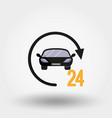 car service delivery 24 hours a day vector image