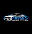 car wash logo vector image vector image