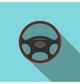 Car wheel flat icon with shadow vector image vector image