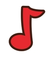cartoon music note icon vector image