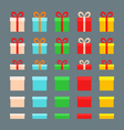 Christmas Boxes vector image vector image