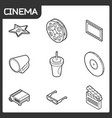 cinema outline isometric icons vector image vector image