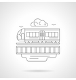 City train detailed line vector image vector image