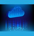 cloud computing business transaction data storage vector image
