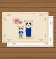 cute card animal panda for mother day design vector image vector image