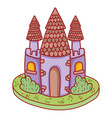 cute fairytale castle icon vector image