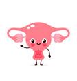 cute healthy happy human uterus vector image vector image