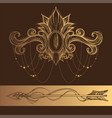 decorative element in the style of boho contour vector image vector image