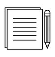 document with pencil isolated icon vector image