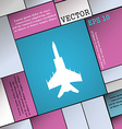 fighter icon sign Modern flat style for your vector image vector image