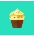 flat cupcake vector image