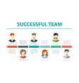 flat design business composition with successful vector image vector image