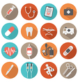 Flat Design Medical icons vector image vector image