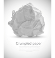 Grumpled paper vector image vector image