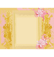 Grunge Frame For Congratulation With Flower vector image vector image