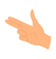 hands gesture communication language or vector image vector image