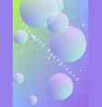 holographic fluid with radial circles vector image vector image