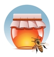 honey and bee vector image
