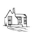 house sketch hand drawn cartoon vector image