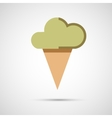 Icon ice cream isolated on white background vector image