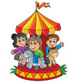 image with carousel theme 1 vector image vector image