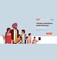 indian business people group communication concept vector image vector image