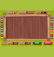 interface slot machine in wooden style vector image vector image