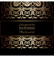 Invitation decorative 23 vector image vector image