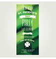 Invitation Saint Patricks DayHoliday poster Party vector image