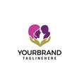 mom baby care logo design concept template vector image vector image
