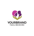 mom bacare logo design concept template vector image vector image