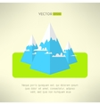 Mountains scene in a modern geometrical design vector image