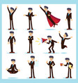 office worker business man characters adult in vector image vector image
