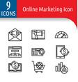 online market icon2 vector image vector image