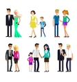 parents with kids couple family and children vector image vector image